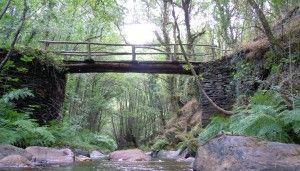 Puente sobre rio vilanova en caraduxe