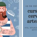 cartel para anunciar curso de cerveza artesana en santa eulalia de oscos, asturias