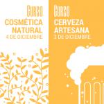 curso de cerveza artesana y cosmética natural en diciembre