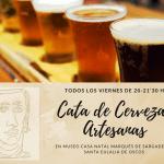 Cata de cervezas artesanas en el el museo casa natal marqués de sargadelos