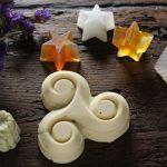 muestra de diferentes tipos de jabones artesanos y caseros jabones con sosa y jabones de glicerina