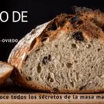 hogaza de pan con masa madre para anunciar curso de pan en oviedo